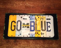 Go Blue Michigan vanity plate