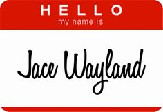 haha...Jace's identity crisis lol :) what it should really read: Jonathan Christopher/Jace, Wayland/Morgenstern/Herondale/ Lightwood... sounds about right I Don't exactly know how he is going to fit all that on there, but he is Jace, and Jace can do anything :)