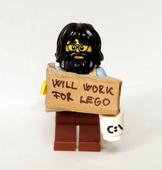 Will Work For LEGO | by kockamania.hu