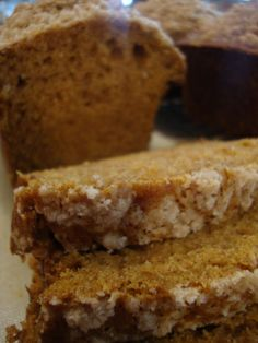 Pumpkin Bread - I poured this mix in a 9x13 glass casserole dish & baked it for an hour, perfect & super yummy!!!