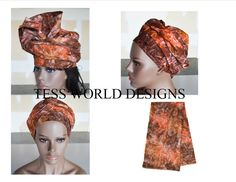Fall Hand painted batik  Tribal African print by TessWorldDesigns,