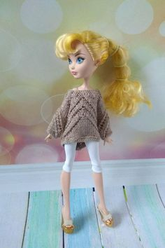 Ever After High / Monster High clothes handmade. Hand-knitted
