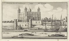 Wenceslaus Hollar | Gezicht op de Tower van Londen, Wenceslaus Hollar, 1647 |