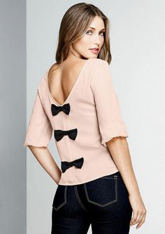 Savannah Bow-Back Blouse - Bewitching Clearance - Sale - Alloy Apparel