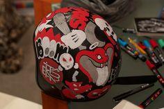 Custom Helmet Illustration on Behance
