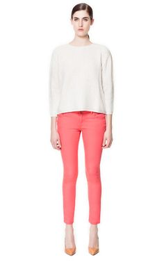 COLORED 5 POCKET TROUSERS - Last sizes - Woman | ZARA United States