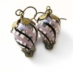 Hot Air Balloon Earrings Blown Glass Earrings by lovelandshadetree, $24.00