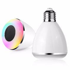 AC100-240V E27 9W Dimmable Timer Bluetooth Music Speaker Color Changeable LED Smart Light Bulb Sale - Banggood.com
