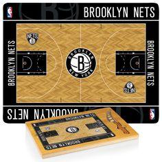 Brooklyn Nets Icon Cutting Board With Cheese Knife - ShopGadgetsAndGizmos.Com