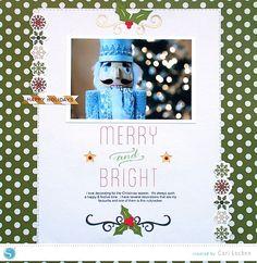 Silhouette America Blog | Merry & Bright scrapbook layout | Cari Locken for Silhouette