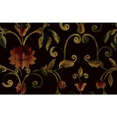 Aldersgate Floral Trail Wallpaper in Browns, Greens, and Reds design... ($94) ❤ liked on Polyvore featuring home, home decor, wallpaper, green pattern wallpaper, seabrook, red pattern wallpaper, flower pattern wallpaper and brown patterned wallpaper