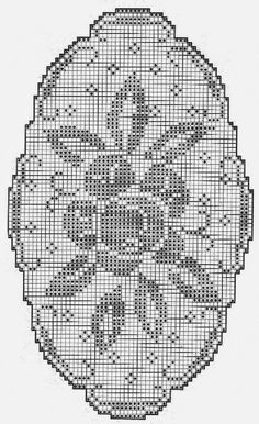 Scheme for small oval tablecloth.    The scheme is not symmetrical and the scheme must be constantly monitored.    One such tablecloth ca...