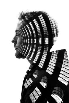Milan's Architecture and People in Surreal Double Exposures