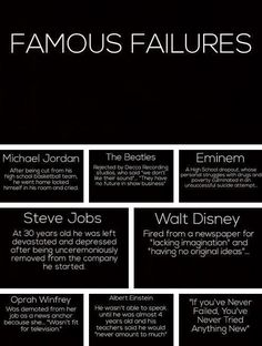 WHEN KIDS FAIL~ Remind them that even Oprah Winfrey and Albert Einstein experie. WHEN KIDS FAIL~ Remind them that even Oprah Winfrey and Albert Einstein experienced failure. Failure is just one step on the path to success! Great Quotes, Quotes To Live By, Me Quotes, Inspirational Quotes, Motivational Monday, Uplifting Quotes, Quotable Quotes, Famous Quotes, Motivational People