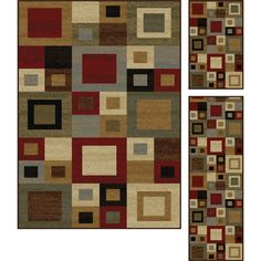 Subtle inflections of color in this area rug harmonize to form an abstract design of blocks within blocks. This area rug is a perfect addition to Contemporary or contemporary styles. In shades of red,