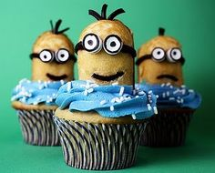 minion cupcakes from confessions of a cookbook queen--these are awesome.  Made them for a bake sale