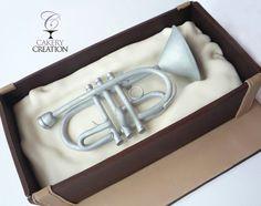 trumpet cake, instrument cake, men cake