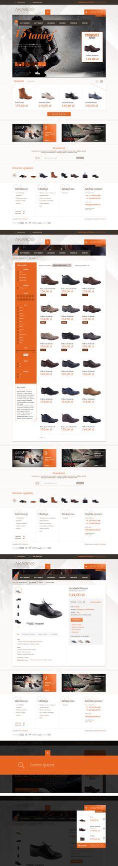 Akardo.pl shop by Łukasz Sokół via Behance http://www.behance.net/gallery/Akardopl/8139561