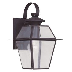 Livex Westover 2181-02 Outdoor Wall Lantern - Polished Brass - 7W in. - 2181-02