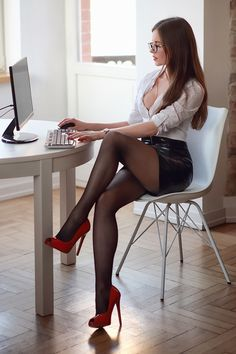 Executive secratary pantyhose