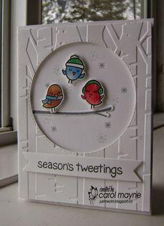 seasons tweetings lawn fawn | Christmas Cards, Challenge 95 White, Cards Christmas, Lawn Fawn Winter ...