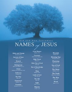 Names of God & Names of Jesus Poster Sets || Broadman Church Supplies