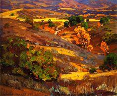 The Athenaeum - California Gold (William Wendt - 1924)