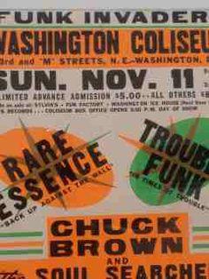Globe, Go Go, Trouble Funk, Rare Essence, Chuck Brown