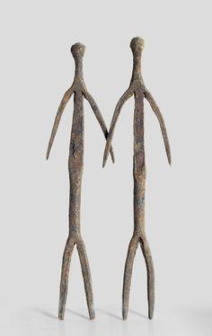 A Lobi Dagara irion sculpture couple  www.tribalartforum.com
