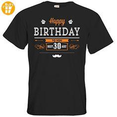 getshirts - RAHMENLOS® Geschenke - T-Shirt - Geburtstag - 30 - happy birthday - black 5XL - Shirts zum 30 geburtstag (*Partner-Link)