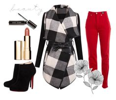 """Autumn"" by yanazhukanova on Polyvore featuring мода, Versace Jeans Couture, Christian Louboutin, Clarins и WallPops"