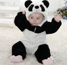 New arrival baby boy character rompers, cute baby outfits,baby boy panda hoodies long sleeve, christmas clothing set 2013 $49.45