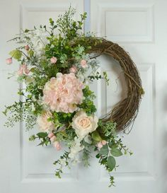Gaslight Floral Design offers unique floral wedding wreaths for that special day. Custom wreaths available. Spring Wreaths For Front Door Diy, Diy Spring Wreath, How To Make Wreaths, Door Wreaths, Grapevine Wreath, Valentine Day Wreaths, Christmas Wreaths, Wedding Doors, Wedding Wreaths