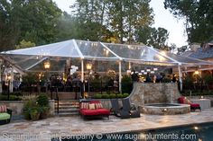 Garden Party. ( #party tent, #wedding tent, #clear tent, #tent lighting )
