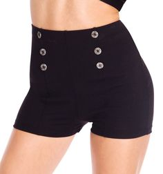 Discount Dance Supply sailor high waisted shorts