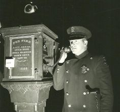 """MIlwaukee Police Officer using a Call-Box to be dispatched to a new """"Hitch"""" (Call for service)"""