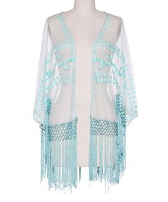 Look what I found on #zulily! Opal Sheer Fringe Open Cardigan #zulilyfinds
