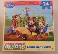 New Puzzle Disney Junior Mickey Mouse Clubhouse 24 pieces Lenticular #CardinalIndustries