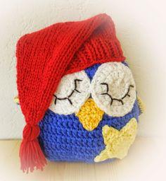 Fräulein Butterblume Schlafeule kostenlose Häkelanleitung Crochet Owls, Cute Crochet, Crochet Animals, Crochet For Kids, Crochet Baby, Knit Crochet, Owl Embroidery, Felt Owls, Owls