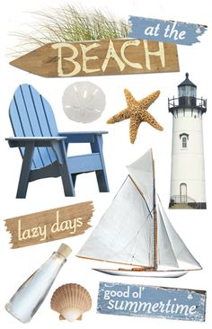 Paper House Productions - 3 Dimensional Cardstock Stickers - At the Beach
