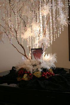 Wishing Tree :  wedding black bling ceremony country club diy flowers inspiration ivory lights manzanita branches purple reception silver white wishing tree Winter Tree 093