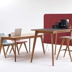 Made from solid oak. Perfect as meeting, dining, bar height, cafe and coffee tables. (and a cactus!