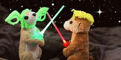 ¡¡Manualidades Star Wars que jamás habías visto!! mini espadas láser, marionetas yoda..