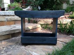 Boot Bench Side Table,  24 inches long, Makes a great narrow side table