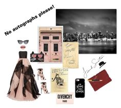 """""""Autograph Hound"""" by digsystuff on Polyvore featuring Reem Acra, Trademark Fine Art, Fendi, Givenchy, Pottery Barn, Casetify, Paul Frank, Giuseppe Zanotti, Karl Lagerfeld and Sugar Paper"""