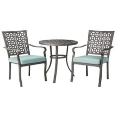 Threshold™ Hawthorne Metal Patio Bistro Furniture Set - Red at Target Cement Patio, Patio Paint, Wood Patio, Patio Furniture Sets, Garden Furniture, Furniture Deals, Furniture Design, Bistro Set, Patio Dining