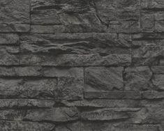 Millwood Pines Wallick Wood Stone Brick L x W Wallpaper Roll Color: Dark Gray Brick Wallpaper Roll, Stone Wallpaper, Painting Wallpaper, Wallpaper Samples, Bamboo Design, Shabby Look, Contemporary Wallpaper, Wood Stone, Wood Vinyl