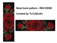 The item is a PATTERN in PDF format. The file will be directly downloadable through Etsy. You will see a Ready to download button on their Purchases and Receipt page, after payment confirmation is received. You will also receive an email from Etsy with a link directing you to that page. Loom bracelet pattern made with 11/0 Miyuki Delica beads.  Width: 32 columns / 4.5 cm / 1.70 inches Length: 100 rows / 17.5 cm / 6.88 inches Colors: 5 You can use also another bead colors or sorts. This…