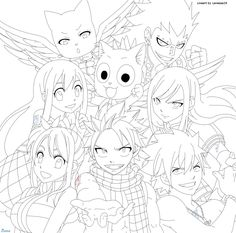 fairy tail character song album eternal fellows by lanessa29deviantartcom on - Fairy Tail Coloring Pages