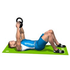 CRUNCH KETTLEBELL INVOLVED MUSCLES DURING THE TRAINING ABDOMINALS